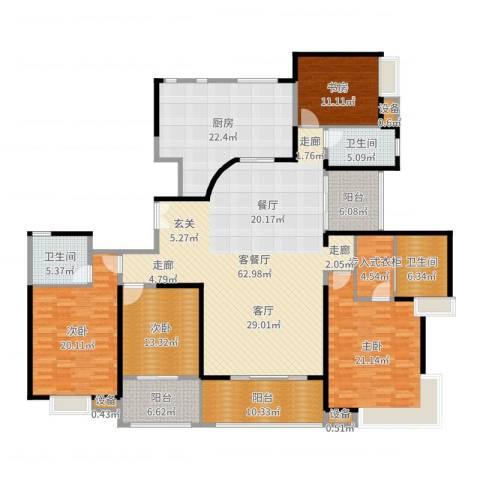 高科尚都4室2厅3卫1厨246.00㎡户型图