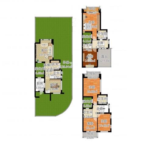 张江汤臣豪园别墅5室2厅5卫1厨406.00㎡户型图