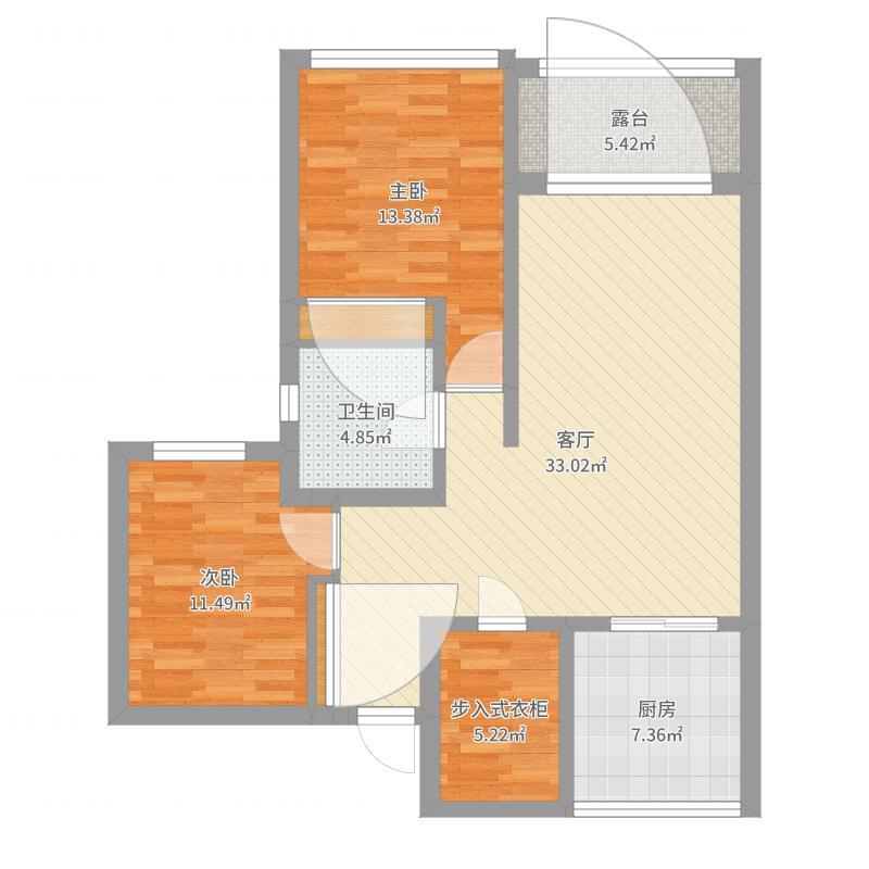99平两室一厅