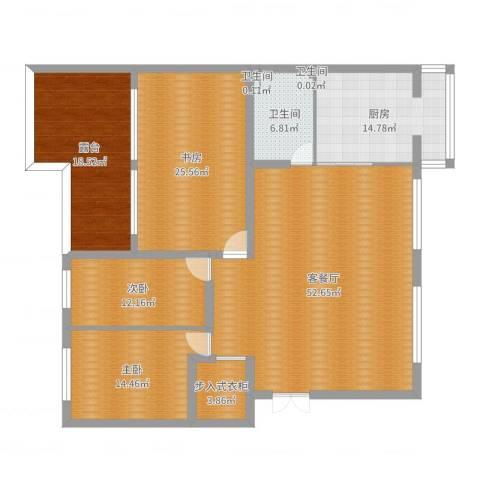 金穗花园3室2厅3卫1厨186.00㎡户型图