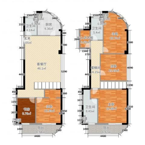 富春新天地5室2厅3卫1厨189.18㎡户型图