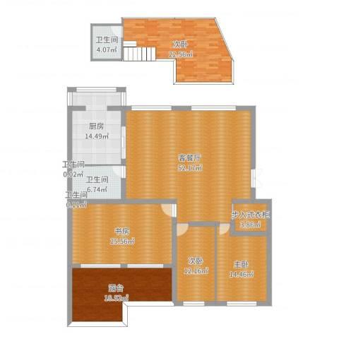 金穗花园4室2厅4卫1厨218.00㎡户型图