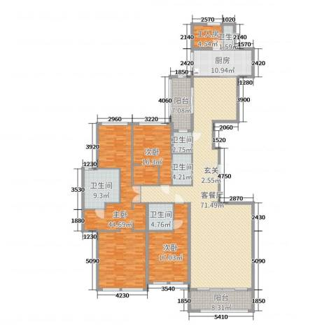 华尔顿12753室2厅5卫1厨254.00㎡户型图