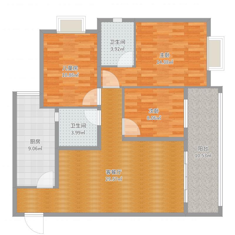 滨江新城 B4 19-6