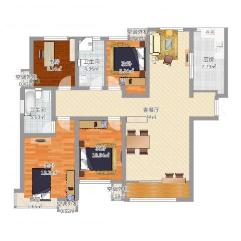 和润香堤4室2厅2卫1厨140.00㎡户型图