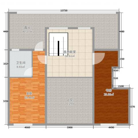 阳光家天下2室0厅1卫0厨215.00㎡户型图