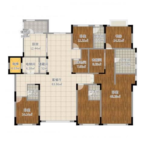 中海紫金苑1室2厅4卫1厨327.00㎡户型图