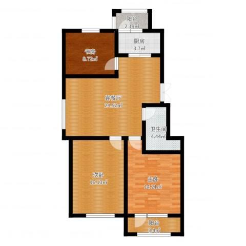 中天富城3室2厅1卫1厨97.00㎡户型图