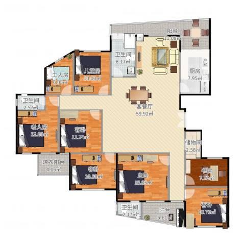 东辰清风港5室2厅3卫1厨235.00㎡户型图