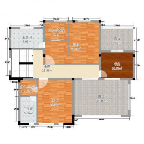 御江山3室0厅2卫0厨164.00㎡户型图