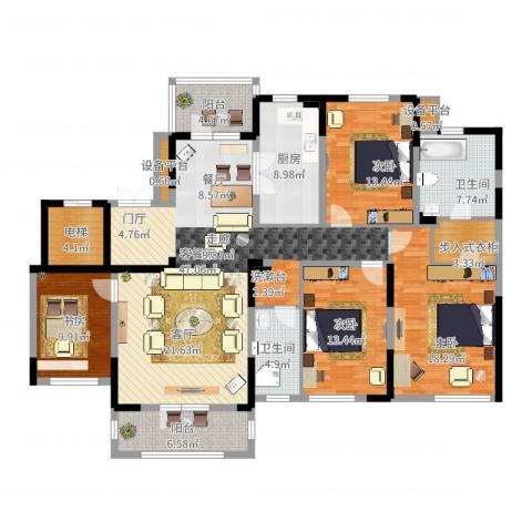 新地阿尔法国际社区4室2厅2卫1厨206.00㎡户型图