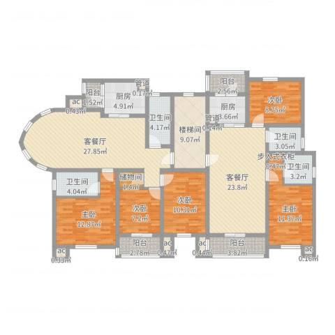 御水豪庭5室4厅4卫2厨186.00㎡户型图