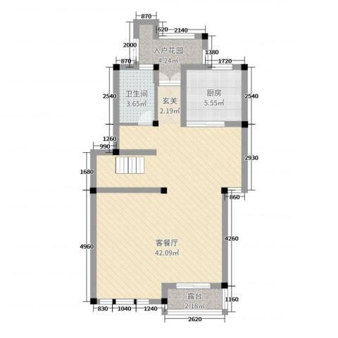 御江山2厅1卫1厨219.00㎡户型图