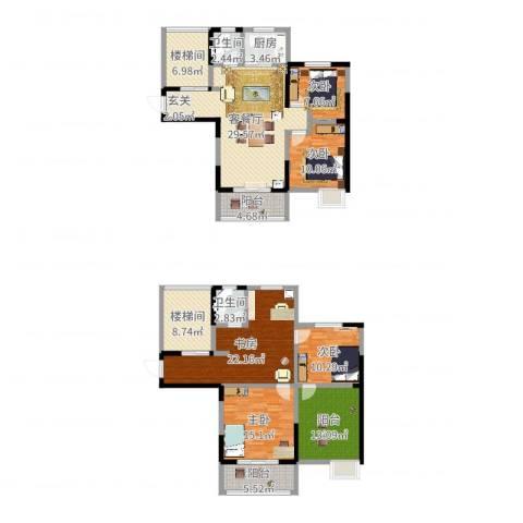 丰朔名仕豪庭5室2厅2卫1厨208.00㎡户型图