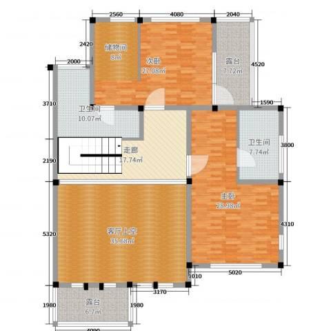 御江山2室0厅2卫0厨245.00㎡户型图