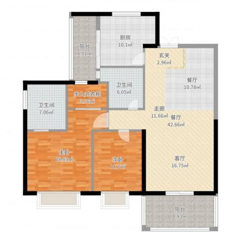 南昌雅颂居-芳芳作业2室1厅2卫1厨144.00㎡户型图