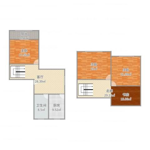 桃浦五村3室1厅1卫1厨179.00㎡户型图