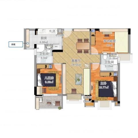 海逸豪庭2室2厅2卫1厨93.00㎡户型图