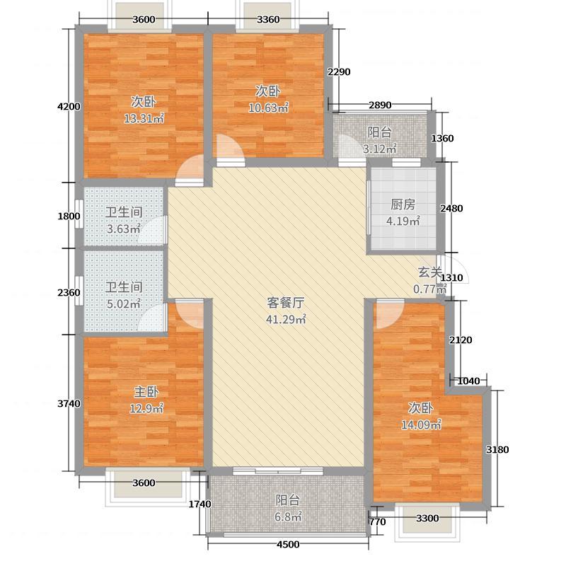 大理嘉逸岭湾136.31㎡G户型4室4厅2卫1厨