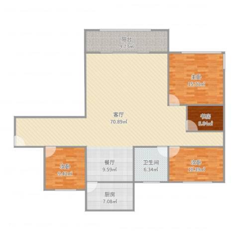 星河世纪城三期4室1厅1卫1厨168.00㎡户型图