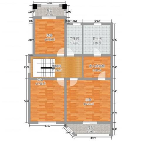 唐轩・温莎观邸3室0厅2卫0厨215.00㎡户型图