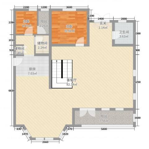 唐轩・温莎观邸2室2厅1卫0厨273.00㎡户型图