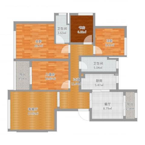 葛洲坝玉兰花园4室3厅2卫1厨125.00㎡户型图