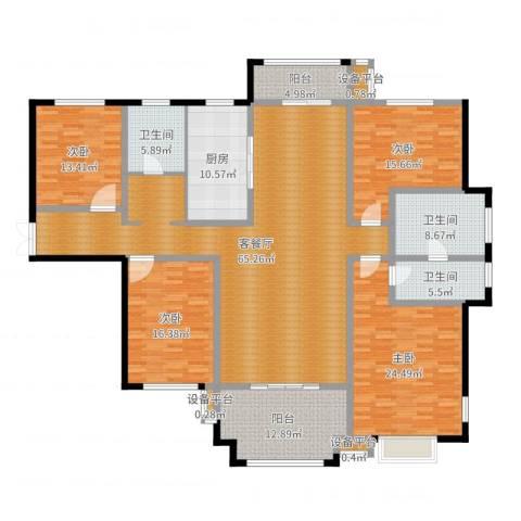 揽盛・金广厦4室2厅3卫1厨231.00㎡户型图