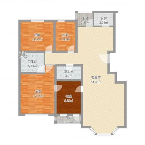 四季香山别墅4室2厅2卫1厨144.00㎡户型图