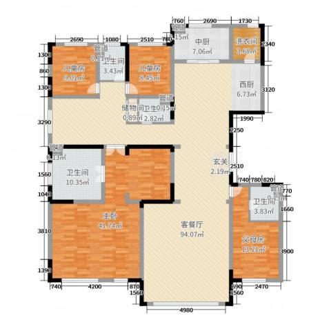 中海紫御华府3室2厅4卫0厨249.00㎡户型图