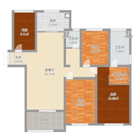 金鹰国际公馆4室2厅4卫1厨159.00㎡户型图