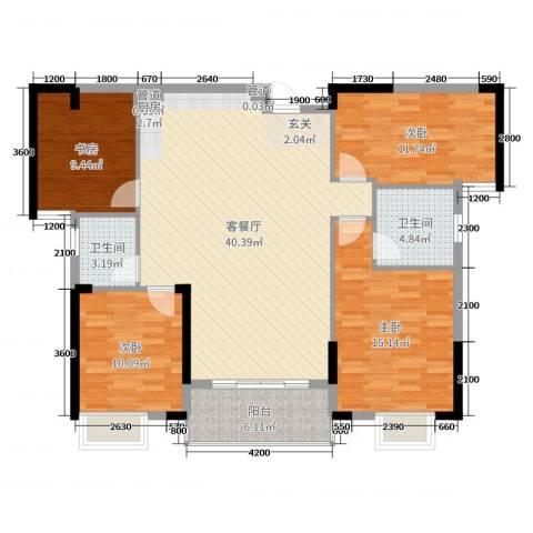 御水湾4室2厅2卫0厨130.00㎡户型图