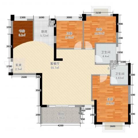 御水湾3室2厅2卫0厨128.00㎡户型图