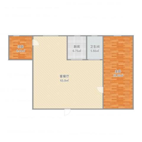 华发明苑2室2厅1卫1厨150.00㎡户型图