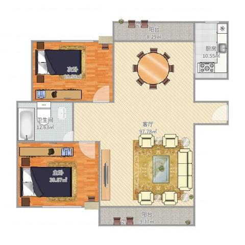 新高苑四期300弄2室1厅1卫1厨248.00㎡户型图