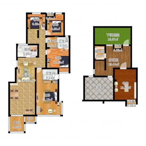 融侨天骏5室2厅2卫1厨285.00㎡户型图
