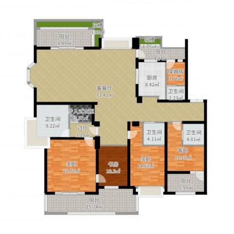天正滨江4室2厅4卫1厨264.00㎡户型图