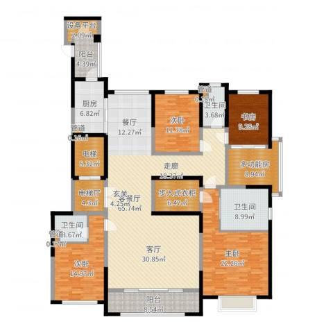 西派国际4室2厅3卫1厨235.00㎡户型图