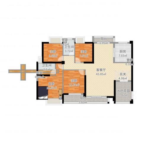 黄旗山1号4室2厅2卫1厨149.00㎡户型图