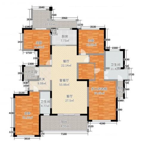 绿地外滩1号3室2厅2卫1厨192.80㎡户型图