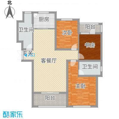 御品世家133.00㎡G3户型3室3厅2卫1厨