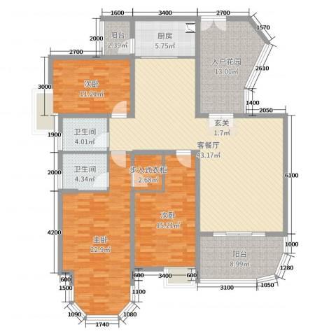 新世纪君汇半岛3室2厅2卫1厨162.00㎡户型图