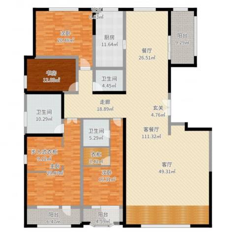 保利海德公园4室2厅3卫1厨306.00㎡户型图
