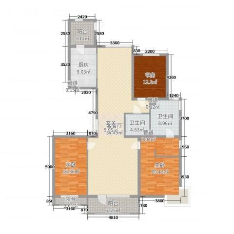 梧桐府3室2厅2卫1厨177.00㎡户型图