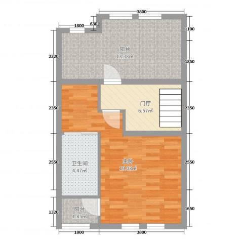 缇香温泉小镇1室0厅1卫0厨159.00㎡户型图