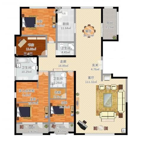 保利海德公园4室1厅3卫1厨306.00㎡户型图