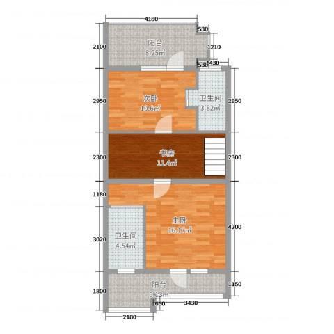 缇香温泉小镇3室0厅2卫0厨159.00㎡户型图