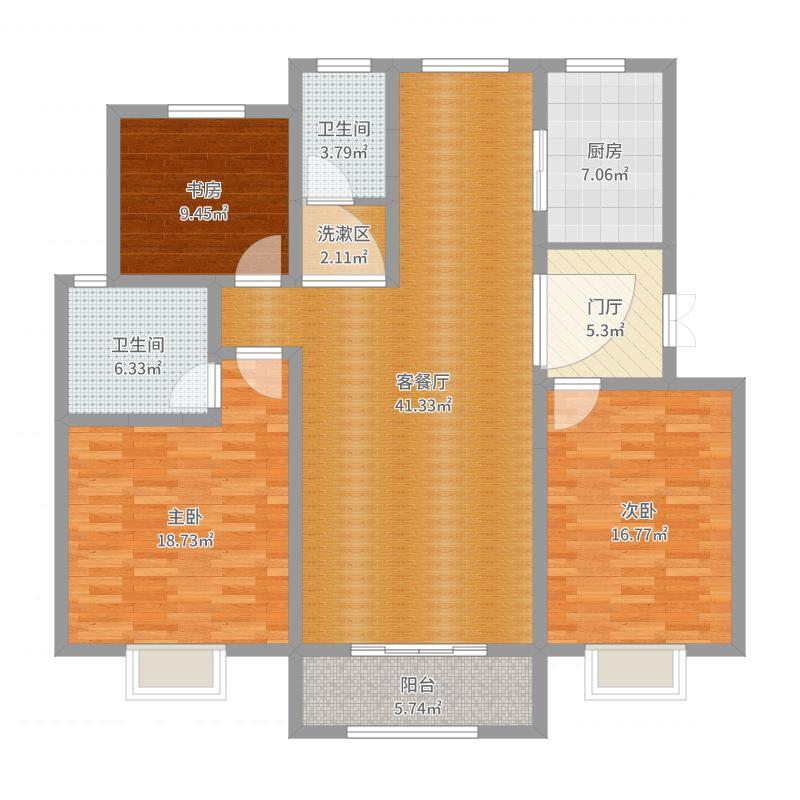 基鸿装饰/松山口社区/146平米/中式风格