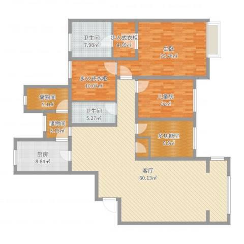 仁恒湖滨城2室1厅2卫1厨189.00㎡户型图