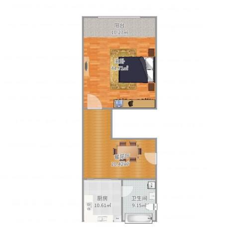 齐一小区1室1厅1卫1厨89.48㎡户型图